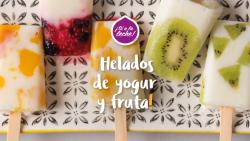 Helados de yogur y fruta