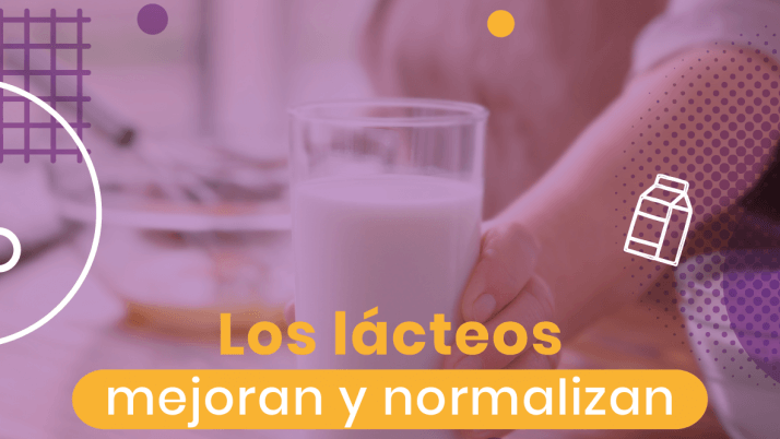 Los lácteos mejoran y normalizan el tránsito intestinal.