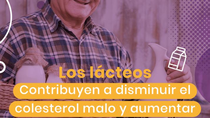 Los lácteos contribuyen a disminuir el colesterol malo y aumentar el colesterol bueno