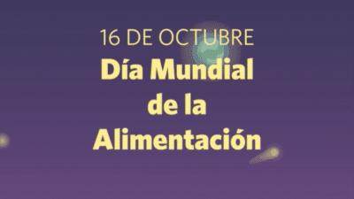 16 OCT   Día Mundial de la Alimentación